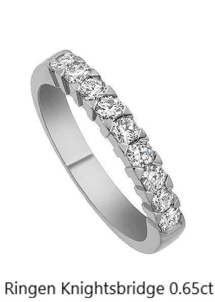 Ringen Knightsbridge Flanders diamant Alliansring Vitguld Vigselring Stockholm Guldsmed