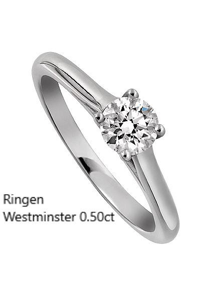 Ringen Westminster Solitär Ring Enstensring Diamantring