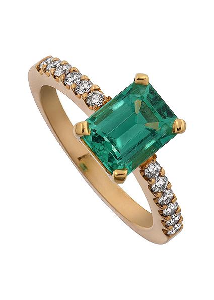 Ringen Wimbledon Dress ring Fest ring Smaragd.
