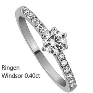 Ringen Windsor diamantring Förlovningsring Vigselring Diamantring